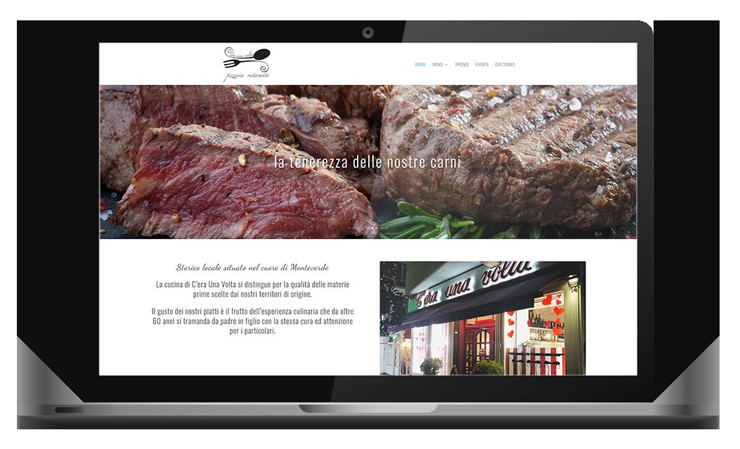 C'era una volta ristorante pizzeria sito internet agenzia web agency roma italia nabla