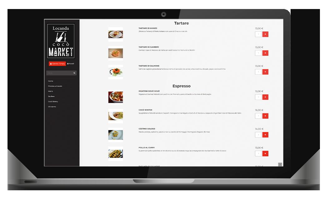 locanda coco ristorante sito internet agenzia web agency roma italia nabla